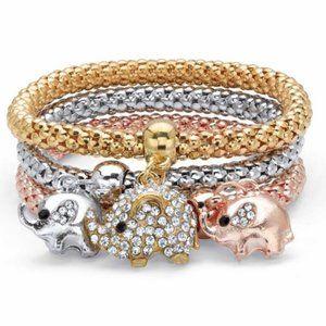 Spiritual Lucky Tri-Tone Elephant Bracelet